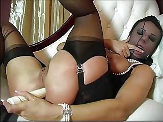Latina riding cock fiercely