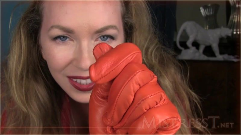 best of Leather Handjob with gloves red