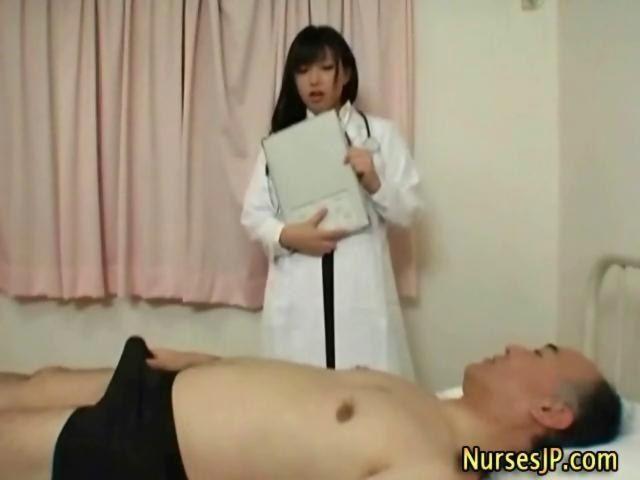 Shower nurse handjob