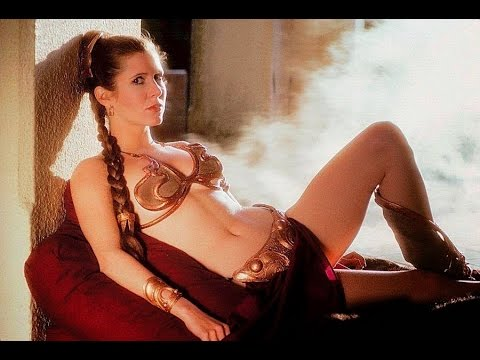 Carrie fisher in metal bikini