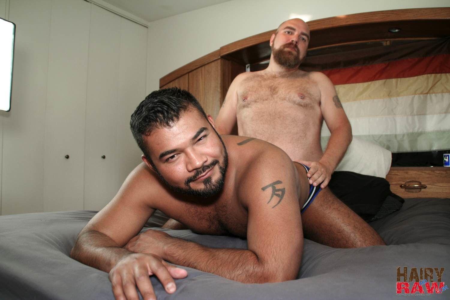 Hairy interracial sex