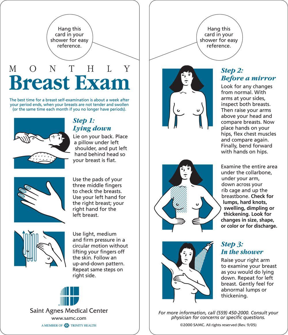 Sundance K. reccomend Breast self exam steps