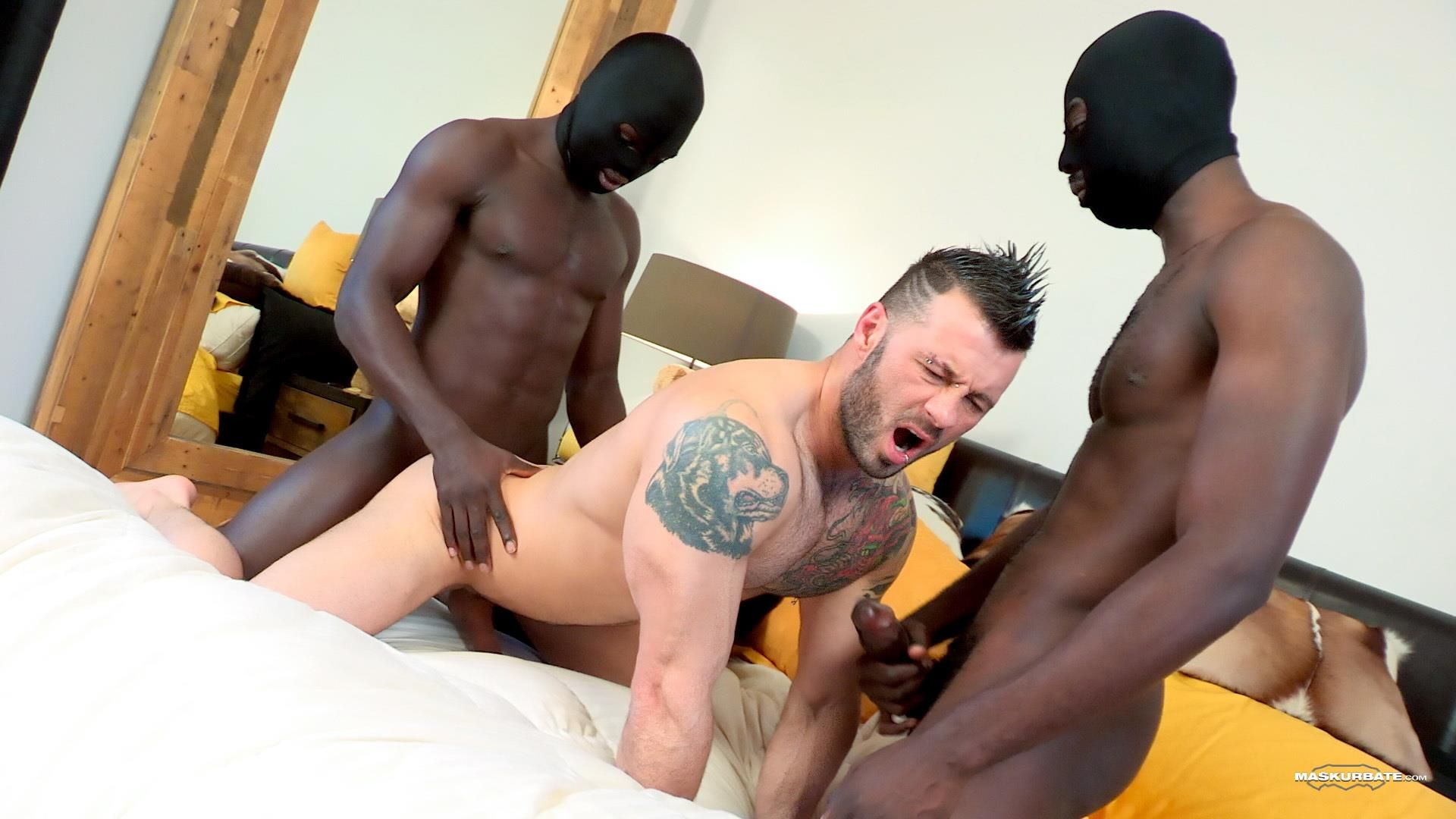 Big black gay threesome