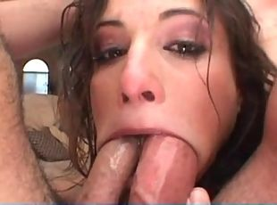 Deepthroat mouth cum slutload
