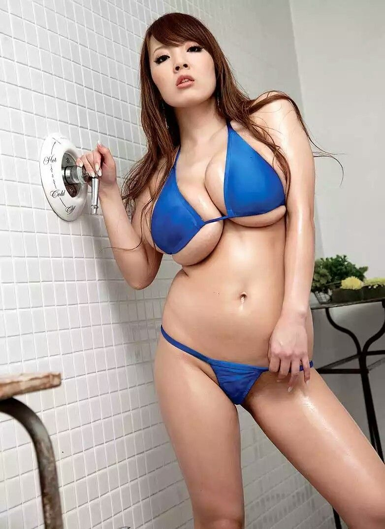 Asian babe in shower
