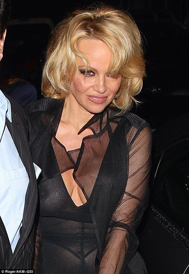Vivi reccomend Pam andersons tits in see thru