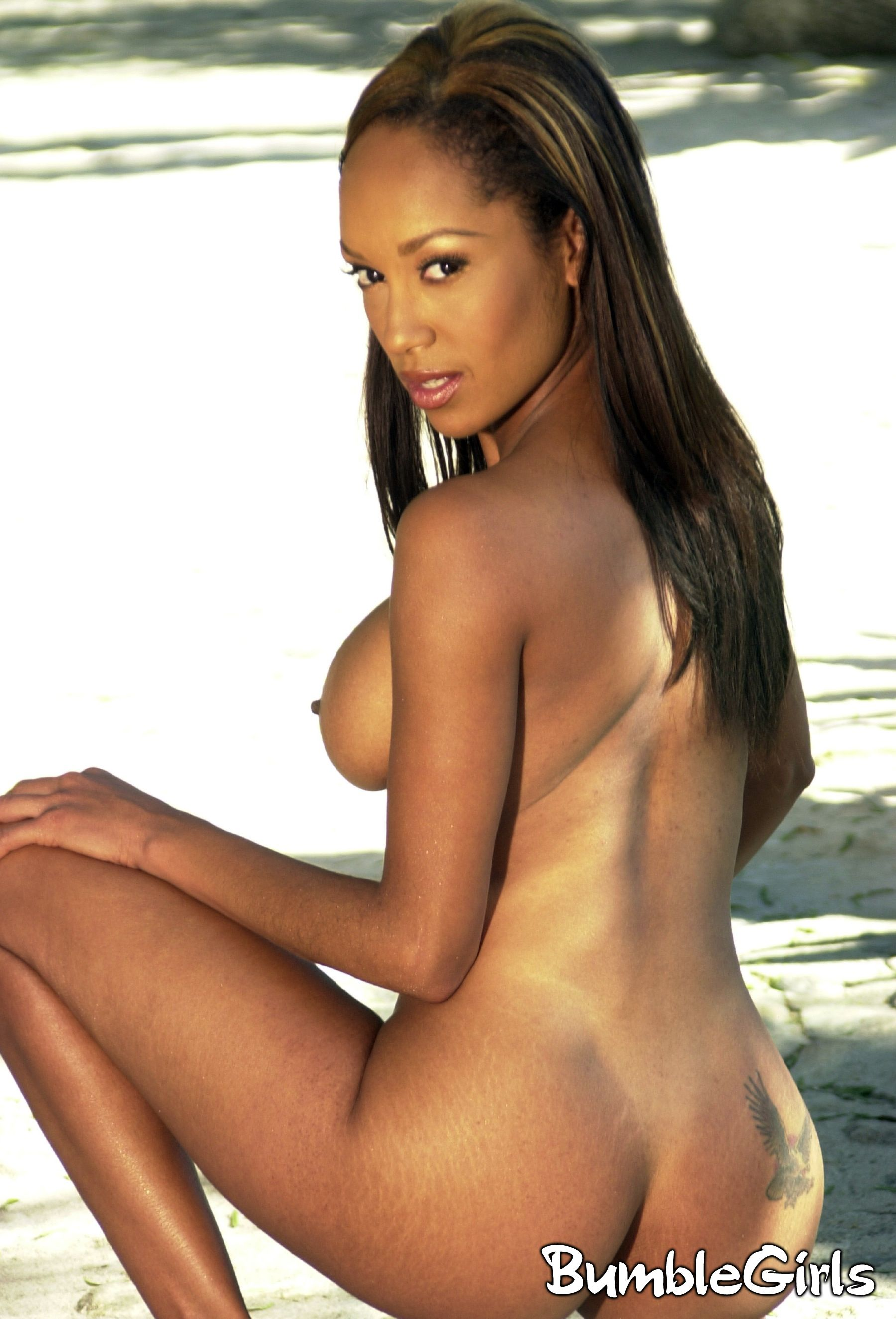 Nude model Black women