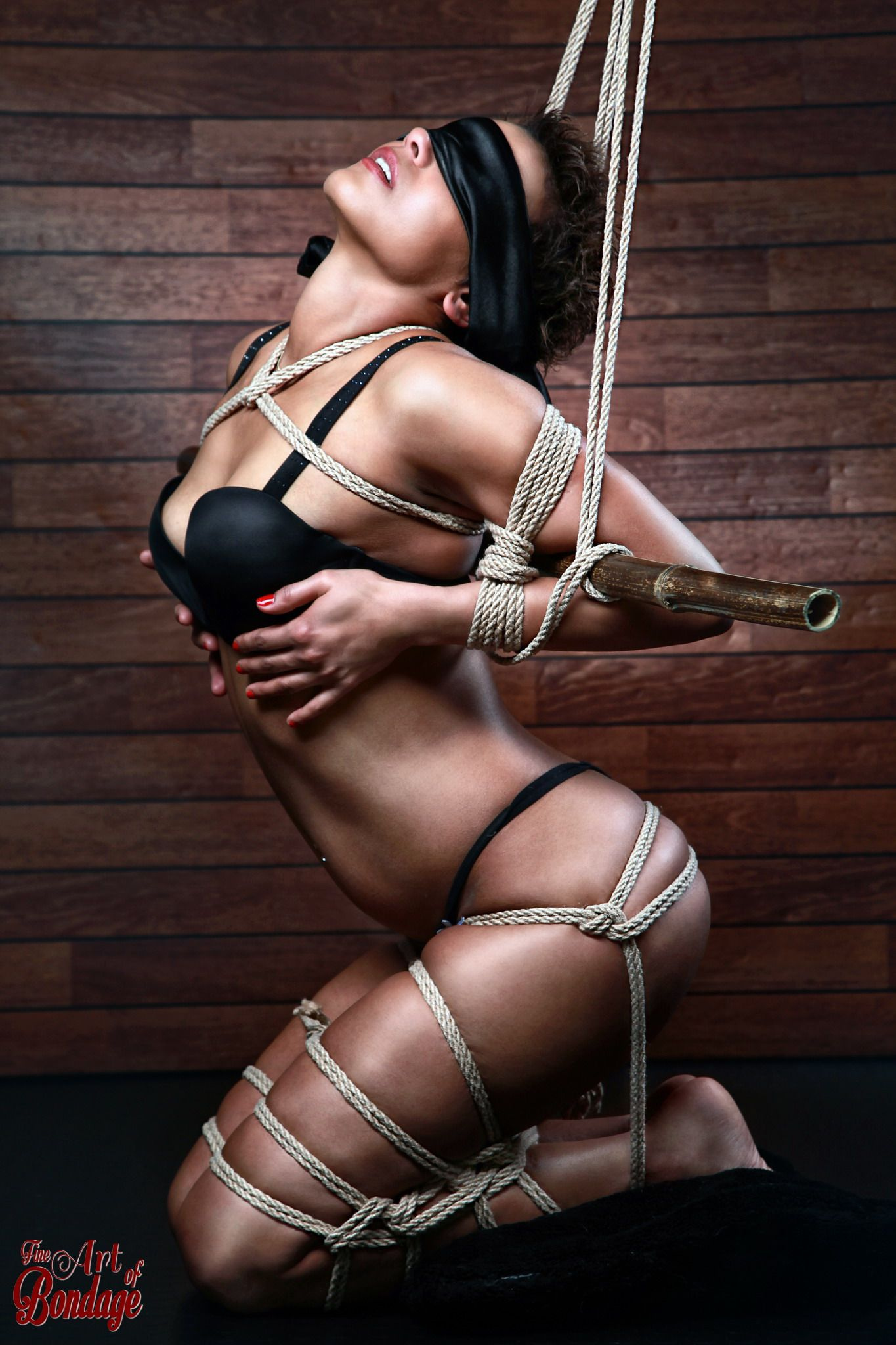 Bondage models tied up