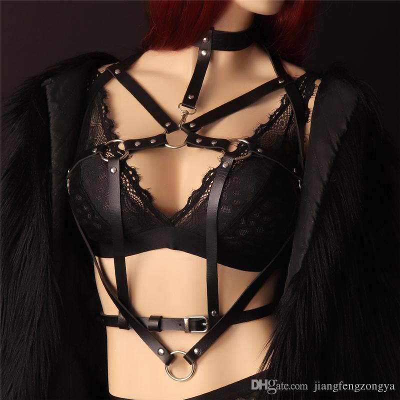 best of Harness bondage Woman leather in