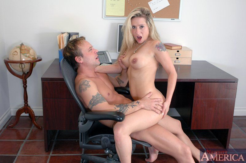 Wife caught nude in office