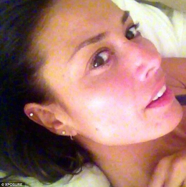 Transsexual woman curlers pierced ears