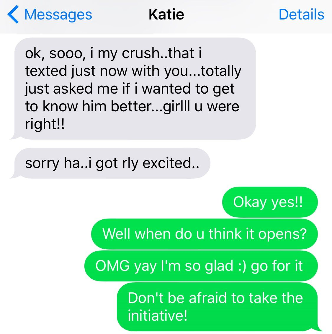 best of Her number First text getting after