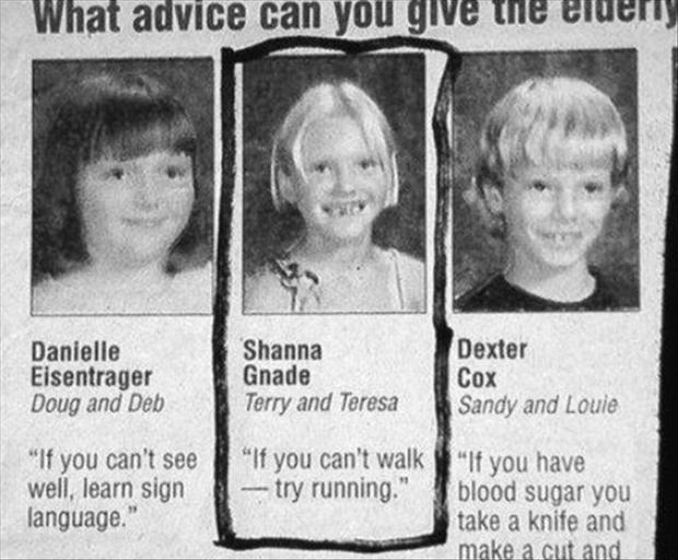 Funny advice column names