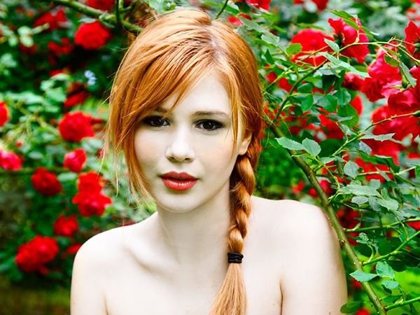 best of Girl pigtails from with Redhead
