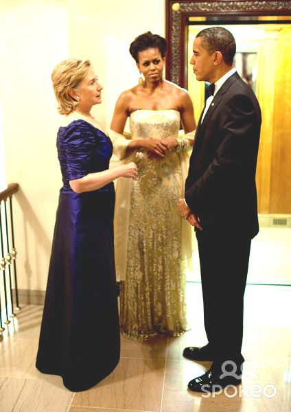 best of And party Hillary boob drinking obama