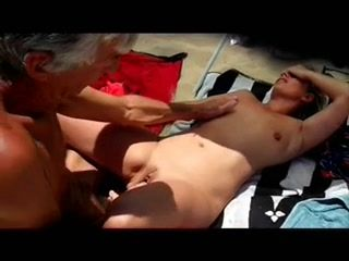 Guy pissing in naked black girl mouth