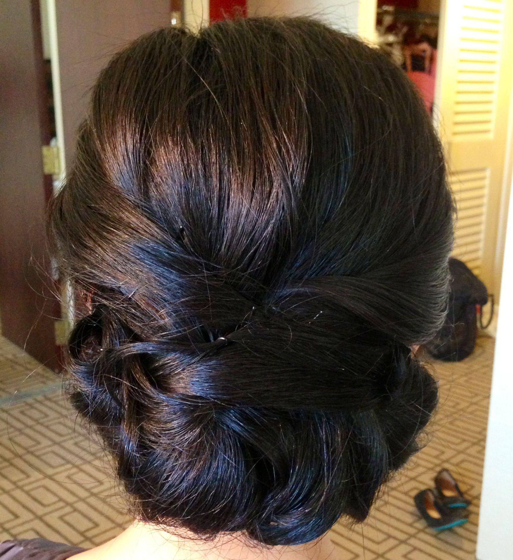 Asian hair updo