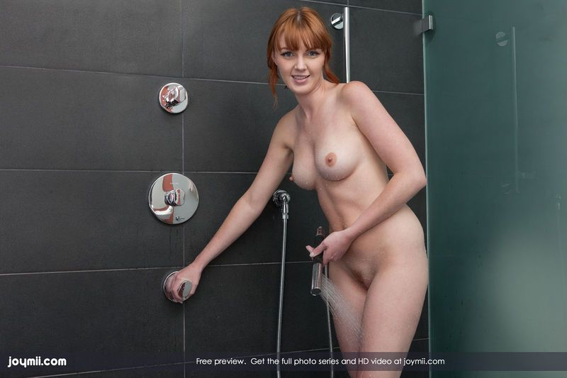 Hot redheads showering naked