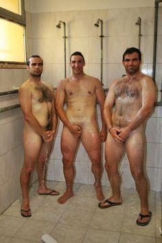 Dark M. reccomend Shower room nude men