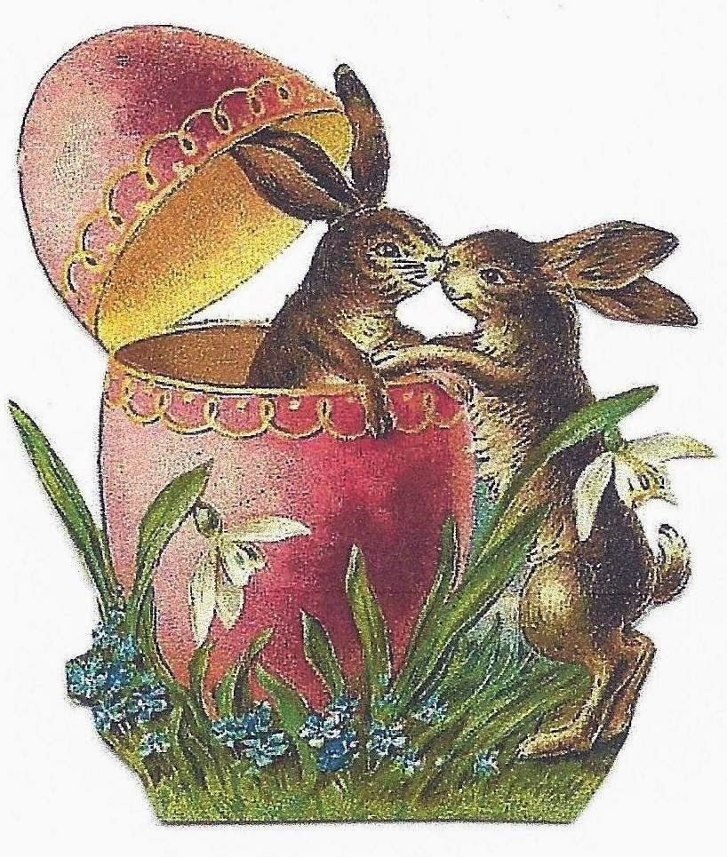 Uncle reccomend Vintage easter bunny clip art