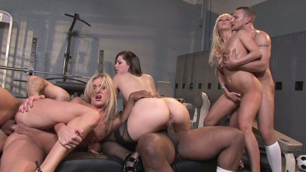 The amusing free orgy and groupsex video