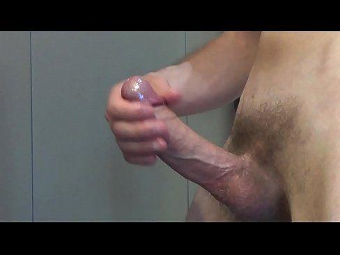 Masturbate huge cock cum