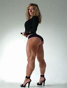 Sexy big calves muscular women